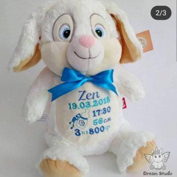 Іграшка для вишивки метрики ЗАЙЧИК