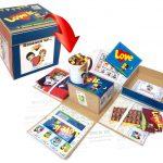 Набор в коробке куб с распадающимися сторонами Love is...
