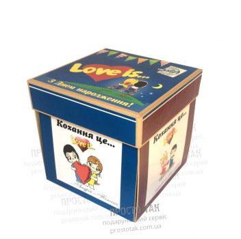 Набор в распашной коробке куб Love is...