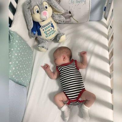 Подарок новорожденным игрушки с вышивкой метрики