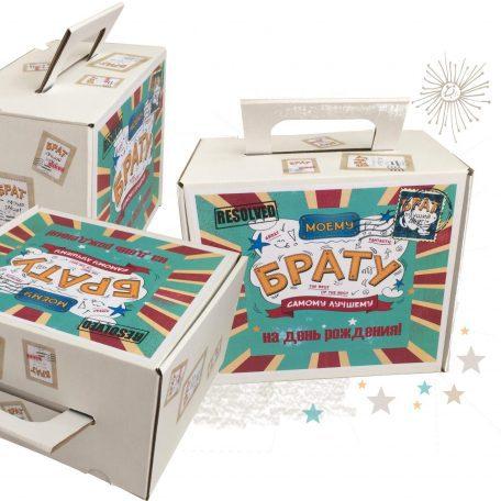 "Купити коробку валізу для подарункового набору БРАТУ<a href=""http://prostotak.com.ua/ru/shop/podarochnaya-upakovka/korobka-210x190x130-moemu-bratu/"">заказать коробку</a>"