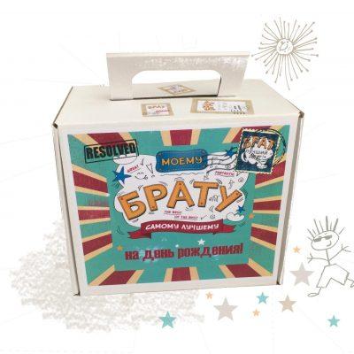 Крафтовые коробки для подарков купить 1 шт