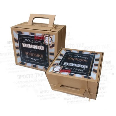 Купити коробку для подарункового набору чоловікові 210х190х130
