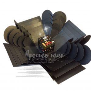 Подарок с фотографиями ФОТО КУБ черный