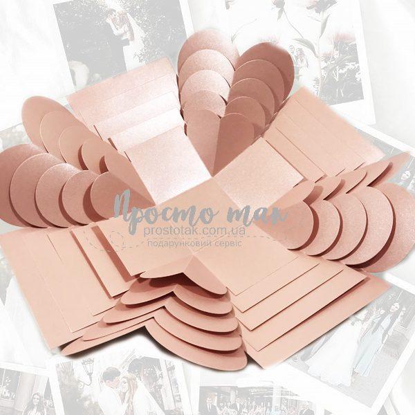 Фото коробка розовый куб 19х19х19см