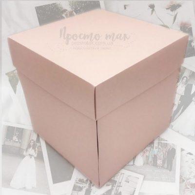 Коробка для фото із розпашними сторонами куб 19х19х19см