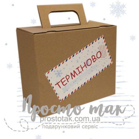 """Коробка для подарунка від  Діда Мороза <h3><a href=""""http://prostotak.com.ua/ru/shop/na-prazdniki/na-den-svyatogo-nikolaya/pismo-ot-deda-moroza-sanochki-i-snezhinka-golovolomka/"""">Заказать</a></h3>"""
