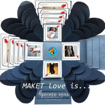 МАКЕТ приклад куба із рамками Love is...