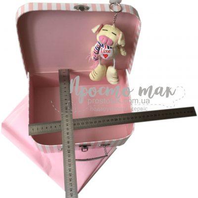 Коробка для подарков ЧЕМОДАН розовый