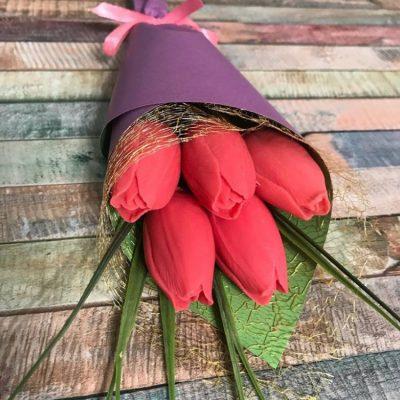 ПОДАРУНОК на 8марта - букет тюльпанів з мила