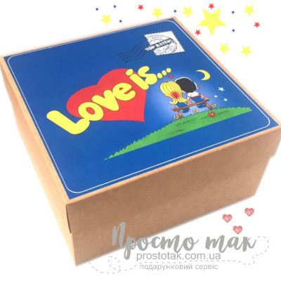 Коробка 20Х20Х10см Love is...