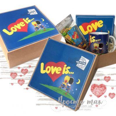 Подарочный набор Love is... синий