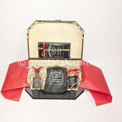 набір міні Jack Daniel's у валізі із дерева