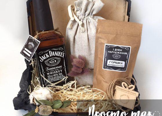 Набор с виски Jacke Daniels и орешками