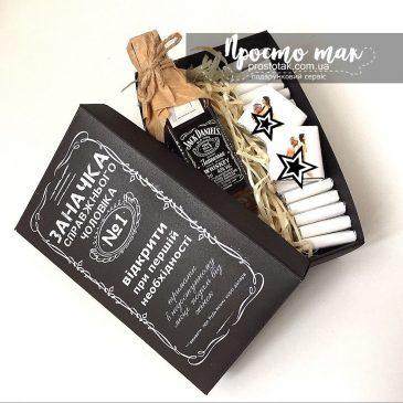Подарунок для чоловіка з віскі Jake Daniel's та шоколадом