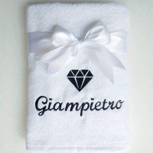 Махровое полотенце с вышивкой логотипа организации