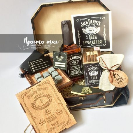 Чоловічі подарунки з алкоголем і камінням для віскі