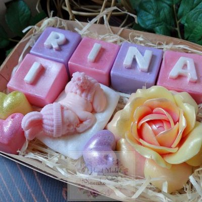 Іменний набір із мила для малюка та мами