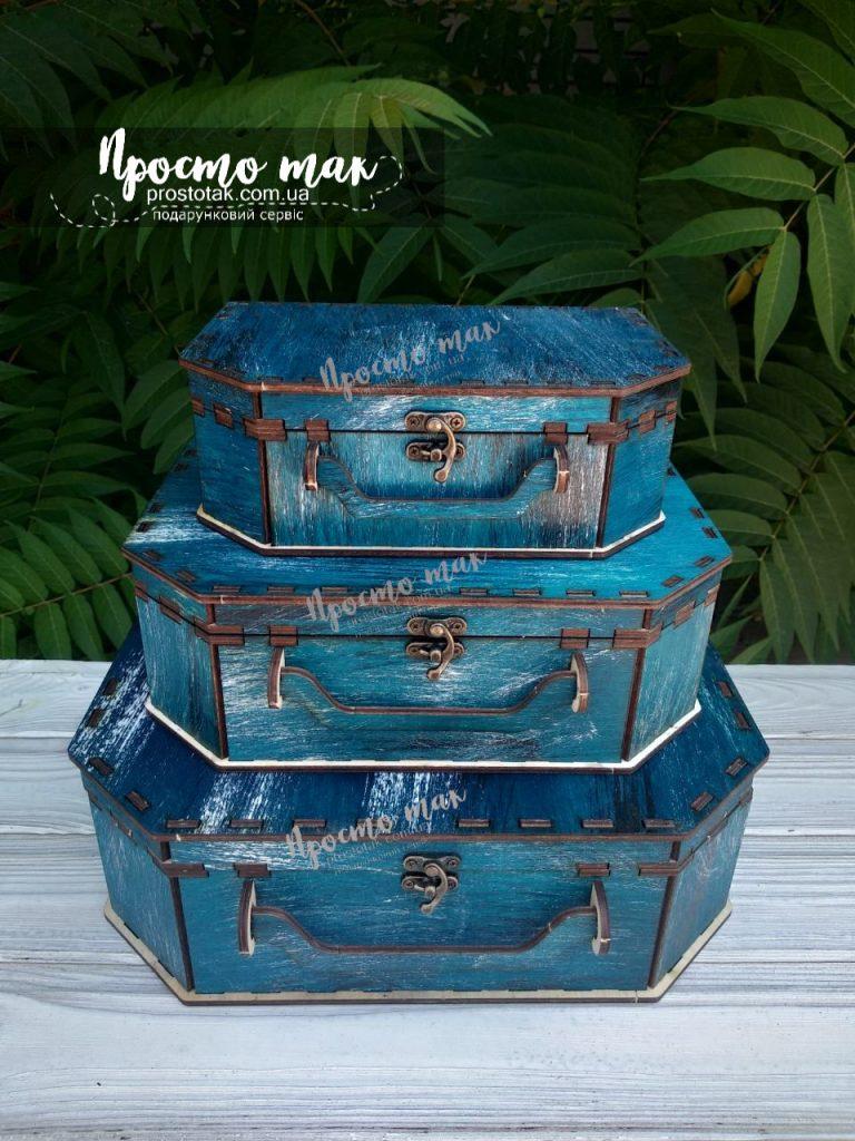 Коробка чемодан з дерева