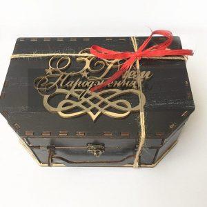 Деревянный чемодан подарочная коробка из дерева