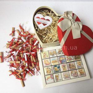 101причина кохання до тебе + шоколад