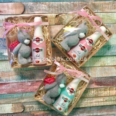 Подарочное мыло мишка Тедди и мартини