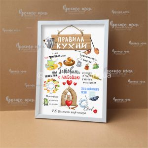 Постер «Правила кухни» на русском языке