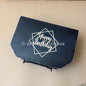 Купить коробку чемодан с деревянной надписью
