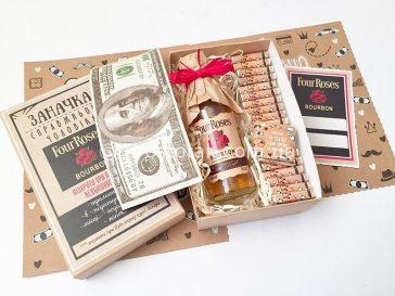 бурбон и шоколад для подарка мужчине