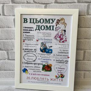 Постер на замовлення індивідуальні тексти і дизайн