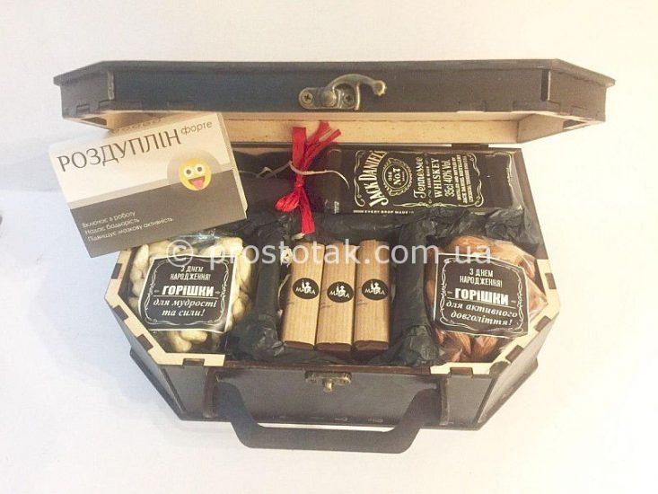 """Набір """"Vital"""" в дерев'яній коробці чемодан"""