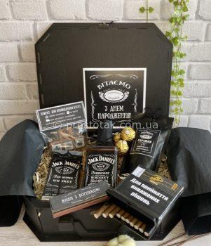 Подарок для мужчины VIP бокс с алкоголем и шоколадом Jack Daniel's