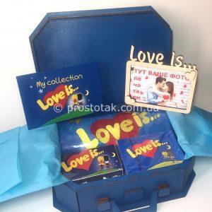 Набор №2 в деревянном чемодане love is …