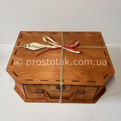 Коробка чемодан 33х26х10см