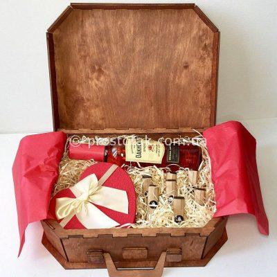 Набір в дерев'яній валізі XL №155