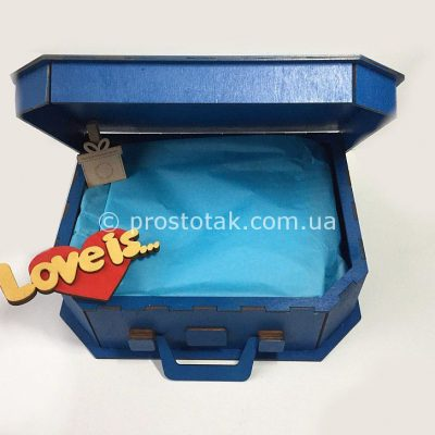 Коробка чемодан из дерева Love is...