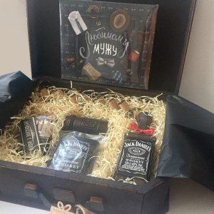 Набор любимому мужу в коробке чемодан XXL