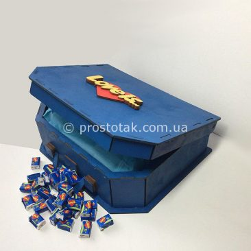 Коробка валіза з дерева для подарунків серії Love is ...