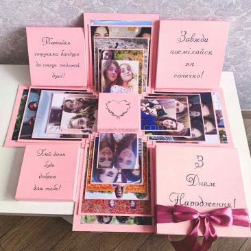Куб memory box с фотографиями на 5 разворотов