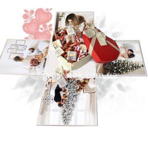 Подарок девушке с фото и причинами любви