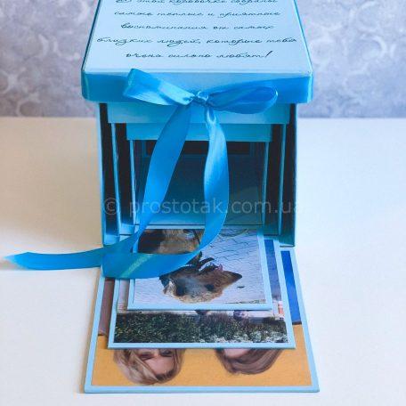 Куб memory box с фотографиями на 3 разворота