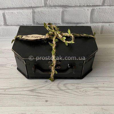 Подарункова коробка з дерева купити 1шт. Валіза з дерева