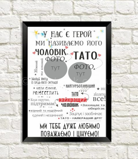 Постер с фотографиями