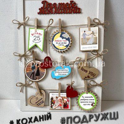 Постер из дерева с фотографиями