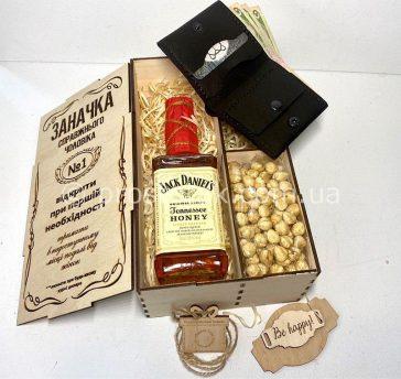 """Wooden box """"Заначка"""" Jack Daniels з аксесуарами"""