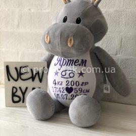 Подарок новорожденному с метрикой БЕГЕМОТИК (Украина)