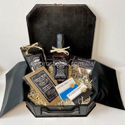 Набір для чоловіка в дерев'яній коробці валізі