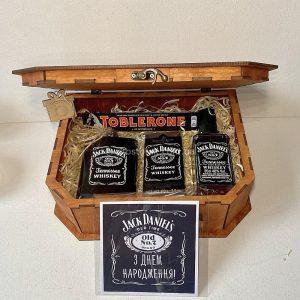Набор Jack Daniel's в деревянной коробке чемодан