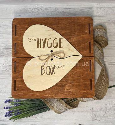 Коробка чемодан из дерева Hygge box