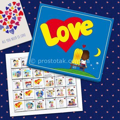 Подарунок коханій дівчині Love is